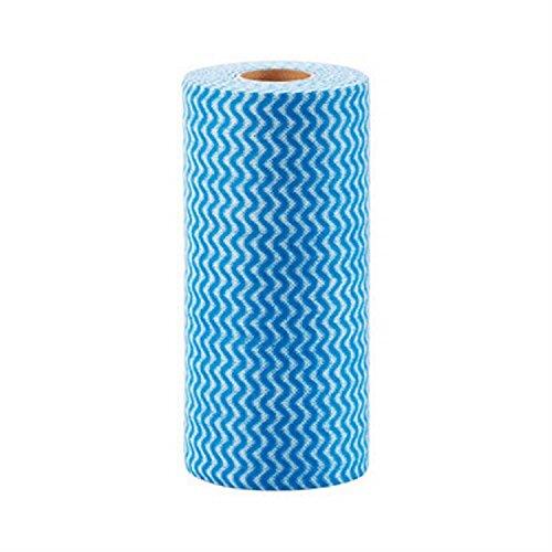 xjoel-rolle-des-50pcs-einweg-nichtgewebte-gewebe-waschen-reinigungstuch-scouring-pad-blau