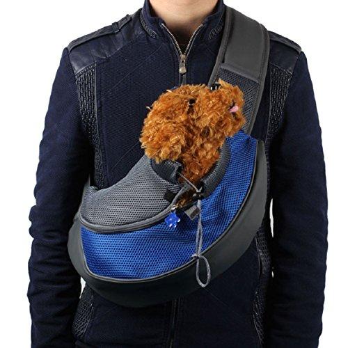 Mokingtop Pet Dog Cat Puppy Carrier Mesh Travel Tote Shoulder Bag Sling Backpack (S, Blue)