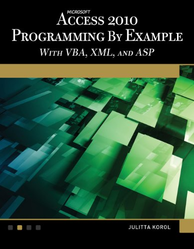 Microsoft® Access® 2010 Programming By Example: with VBA, XML, and ASP (Computer Science) (Vba Programming 2010 compare prices)