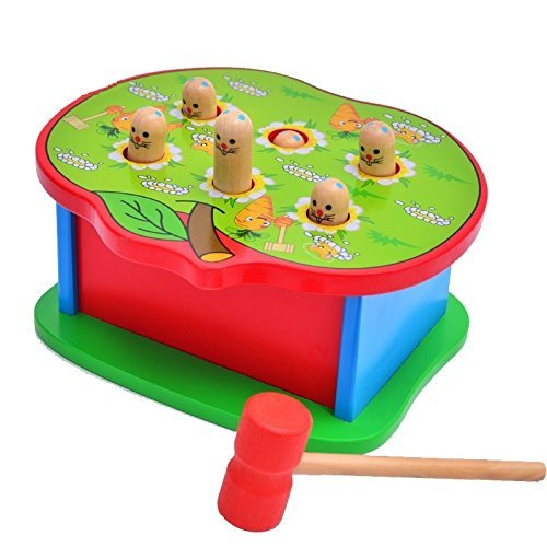 vidatoy-classic-wooden-whac-a-mole-box-with-a-hammer-for-children