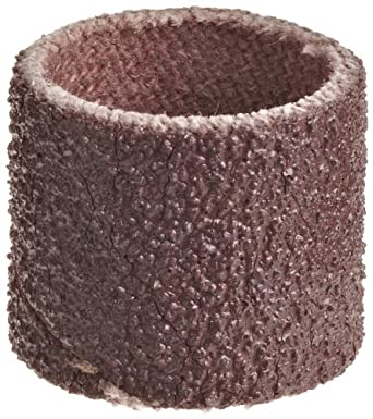 "3M Cloth Band 341D, 1/2"" Diameter x 1/2"" Width, 80 Grit, Brown (Pack of 100)"