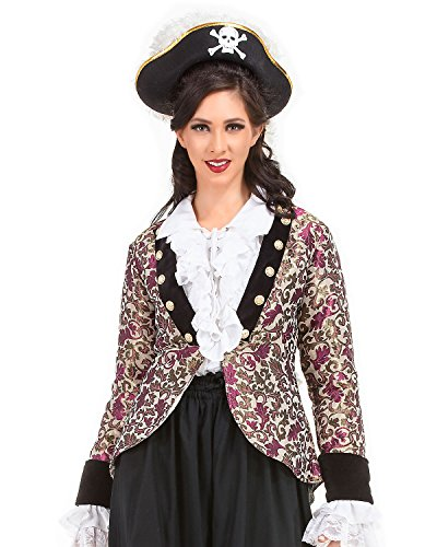 Loi Chai-san Privateer Pirate Renaissance Medieval Womens Costume Brocade Coat