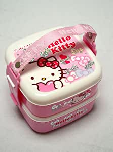 hello kitty bento lunch box set w handle kitchen dining. Black Bedroom Furniture Sets. Home Design Ideas
