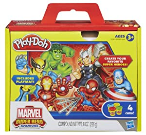 Marvel 4 Favorite Brands Play-Doh Set
