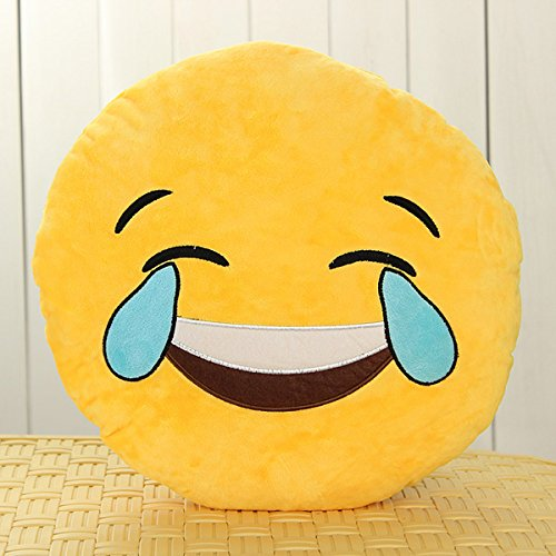 Buy 32cm Emoji Smiley Emoticon Yellow Round Cushion Pillow Stuffed Plush Soft Toy