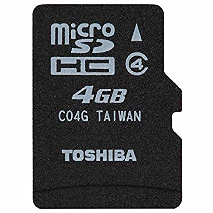 Toshiba 4GB MircoSDHC Class 4 (15MB/s) Memory Card