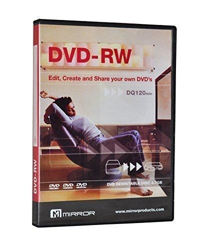 MasterStor - (Lot de 5) Miroir DVD-R 4.7 Go environ 6 six fois la capacité de stockage de 1 CD-R.