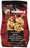 Walkers Mini Choc Chip Shortbread Rounds 125 g (Pack of 6)