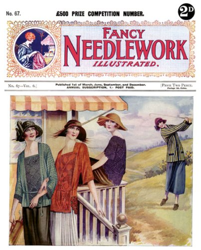 Fancy Needlework Illustrated No. 64 -- Vintage Knitting and Crochet Patterns for 1920s Fashions and Trimmings