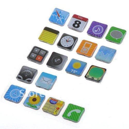 Umiwe(Tm) Phone Icons App Fridge Refrigerator Magnets With Umiwe Accessory Peeler