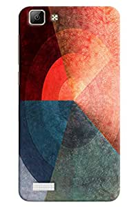 Omnam Three Color Pattern Printed Designer Back Cover Case For Oppo F1 Plus