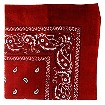 Paisley Cotton Bandana Burgundy