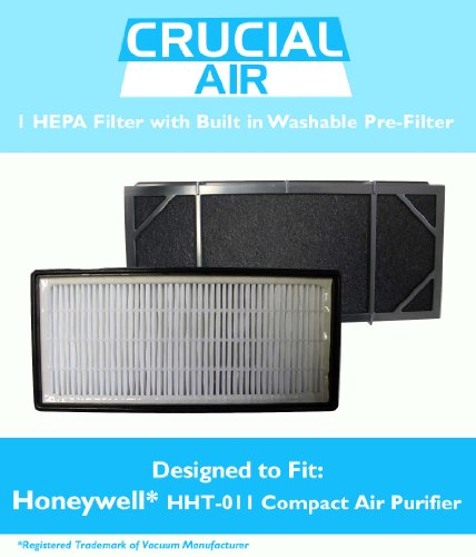 Honeywell HHT-011 Air Purifier Filter Kit - 1 HEPA Filter with Built In Odor Neutralizing Particle Pre-Filter;Part # HRF-B2C (HRFB2C), 3811-350, 16216, 30LB1620XB2, HRF-C1; Designed & Engineered by Crucial Air