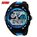 Handcuffs Skmei 1015BL Sports Analog-Digital Watch - For Men, Boys, Girls, Women
