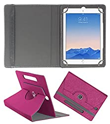 Acm Designer Rotating Case For Apple Ipad Air 2 Stand Cover Dark Pink