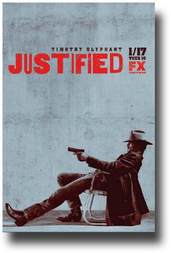 Justified Poster – Promo Flyer – 11 x 17 TV Show Timothy Olyphant – Chair