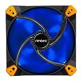 Antec TrueQuiet 120 LED Case Fan 120 mm with 3 Pin to 4 Pin Molex Adaptor Blue