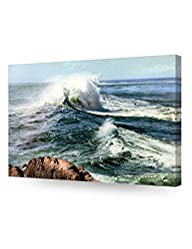 DecorArts – Classic Seascape Ocean Waves Oil Painting Reproduction, Giclee Print, Stretched Canvas…