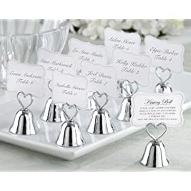 Kate Aspen 12006NA Kissing Bells Place Card Holder