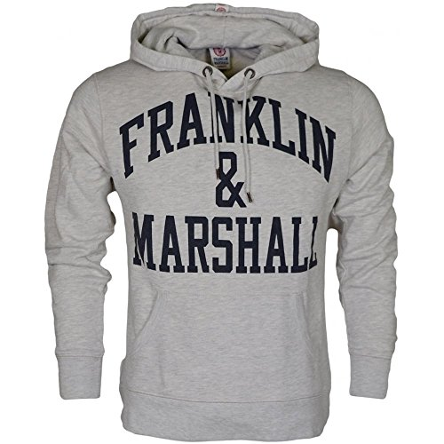 Franklin & Marshall -  Felpa con cappuccio  - Uomo Original Grey Large