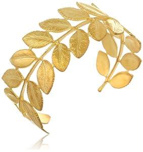 Eddera Jewelry Leaf Cuff Bracelet, 6.5