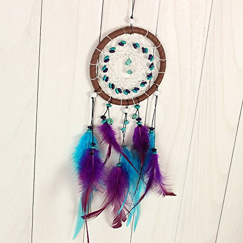 Dream Catcher Decor, Marsway® 2016 Creative India Style Dreamcatcher With Feather Wall Hanging Hanging Ornament Craft Gift Blue Purple