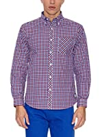 THE INDIAN FACE Camisa Hombre (Azul / Rojo)