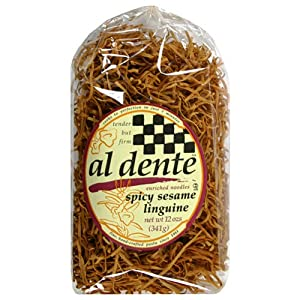 Al Dente Spicy Sesame Linguine 12-ounce Bag Pack Of 6 from Al Dente