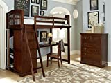 Hanging Nightstand in Chestnut Finish