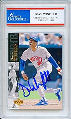 Dave Winfield Autographed Minnesota Twins Encapsulated Trading Card - Certified Authentic