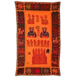 Rajrang Home Décor Embroidered Patch Work Orange Wall Hanging