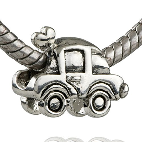 EGB Silver Wedding Car Charm Bead Fits Pandora & Similar Bracelets