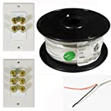 "Theater Solutions 5.1 Home Theater 8"" Ceiling Speaker Set with Center 15"" Powered Sub and More TS80CL51SET8"