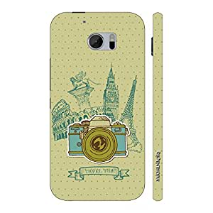Enthopia Designer Hardshell Case Travel Time Back Cover for HTC One M10
