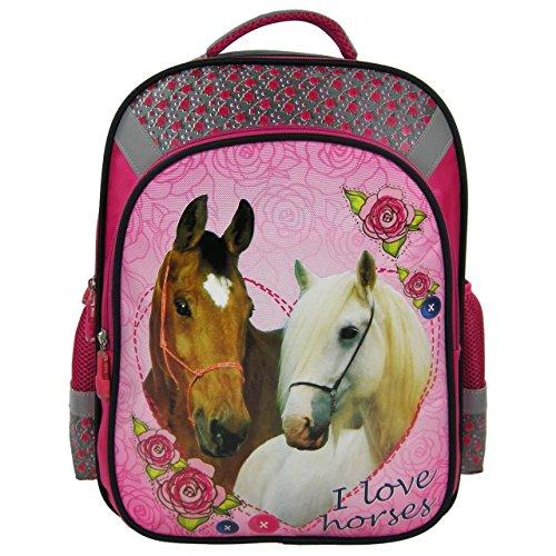 Cavalli Horse bambini zaino per la scuola (39x 31x 16cm) rosa
