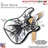 Lightning Black WraptorSkinz Skin fits Rock Band Stratocaster Guitar for Nintendo Wii, XBOX 360, PS2 & PS3 (GUITAR NOT INCLUDED)
