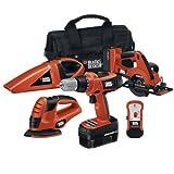 Black & Decker 18v 5-Tool Combo Kit - Orange