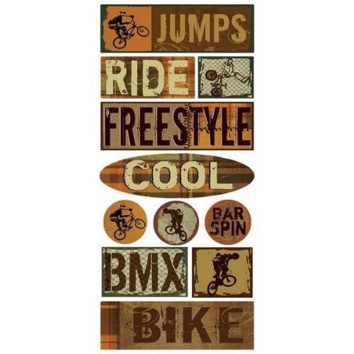 Amazon.com: BMX Bike Scrapbook Stickers (15698)