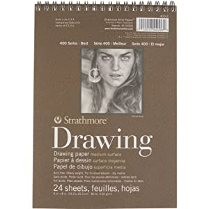 Strathmore 400 Wire Bound Drawing Pad 6 X 8 Inches (ST400-2)
