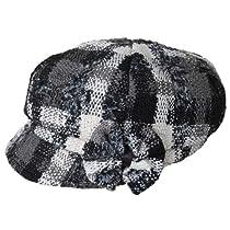 Plaid cap - HS608 (black)
