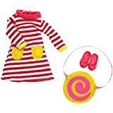 Raspberry Ripple dress clothes outfit set for Lottie doll