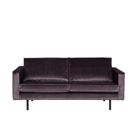 2 Sitzer Sofa in Grau Stoffbezug Pharao24