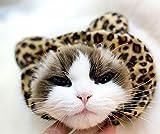 (ココ)COCO ペット用品 1点 犬 猫 ミミ ヘアバンド ヘッドギア あったか ヒョウ 柄 小型用 1.5-10kgまで