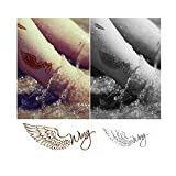 4 Sheets Waterproof Temporary Tattoos Non-Tox Body Art Tattoo Sticker - Wings