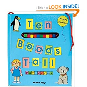 Ten Beads Tall: Measuring is Child's Play! [With String of Square Beads] (Activity Books) Pam Adams