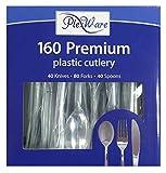 Plexware 160 Piece Cutlury Set-40 Knives-80 Forks-40 Spoons