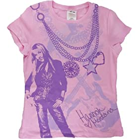 Hannah Montana Girls Pink Bling Tee Shirt