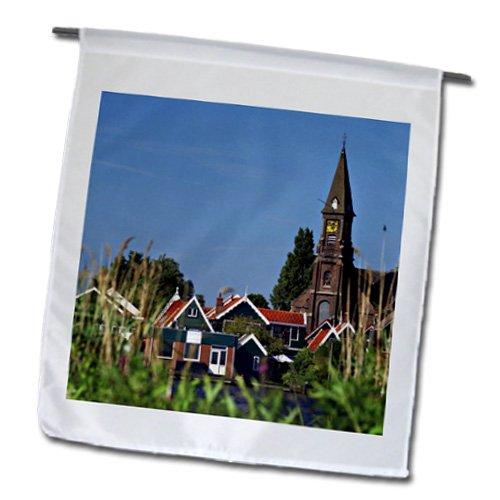 Danita Delimont - Netherlands - Netherlands, North Holland, Zaanse Schans, Houses - EU20 MGL0068 - Miva Stock - 18 x 27 inch Garden Flag (fl_138352_2)
