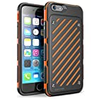 For iPhone 6 Case, SUPCASE Apple iPhone 6 Case, Dual Layer Hybrid [Unicorn Beetle S Series] Slim Protective Case for iPhone 6 4.7 inch (2014), Orange + Black, Soft TPU + Hard Shell [Not Fit iPhone 6 Plus 5.5 inch]