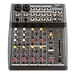 Pyle-Pro PEXM801 10 Channel Balanced Studio Grade IMP Audio Mixer with Pre-Amp